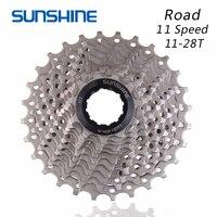 أشعة الشمس الطريق الدراجة Freewheel 11 سرعة 11-28 T دراجة حذافة الصلب 11 S كاسيت Freewheel متوافق ل أجزاء shimano 105 5800