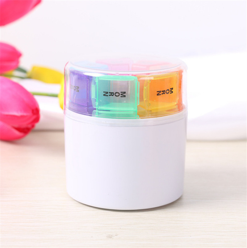 portable emergency kits pill organizer box travel first aid storage box 7 day AM PM medicine container case for pills