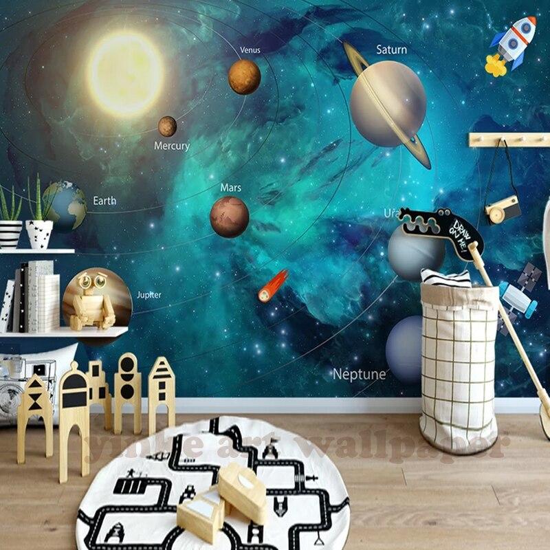 Custom 3D Wallpaper Space Universe Children Room Starry