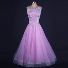 Ballroom Dance Dress Women Sleeveless Purple Standard Tango Waltz Flamenco Competition Costume Adult