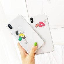 Minimum anime phone case for iphoneX XS XR XsMax Cartoon Cute Couple's iphone6s 6 7 8 Plus case Soft tpu cover леггинсы minimum р xs int