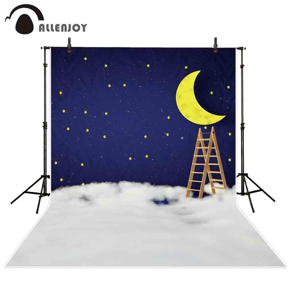 Allenjoy dreamy sky photography backdrop night stars ladder cloud fantasy background photocall studio professional photobooth