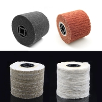 1 Piece 120 100 19mm Unitized Non Woven Sisal Spiral Sewn Cotton Polishing Buffing Wheel For