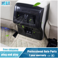 JGRT car styling For Toyota Camry 2018 ABS or Carbon fibre rear air conditioning outlet cover decoration frame with logo 1 pcs