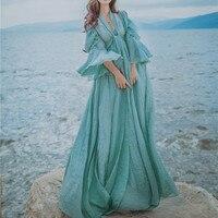 Lantern Sleeve Cotton And Linen Artistic Women Dress Ethnic Style Vintage Chic Long Floor length Mori Girl Elegant Dresses