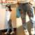 Chifave 2015 Nueva Otoño Invierno Imprimir Caliente Niñas Niños Vaqueros Mediados Cintura elástica Pantalones Vaqueros Largos Pantalones para 3-7 años de Edad Las Niñas Niños