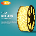 10m 220V waterproof super bright led strip with Waterproof Power Supply  EU or US SMD 5050 Flexible light high voltage