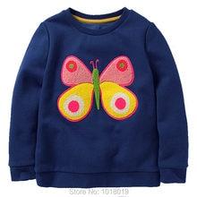 31dab8d38dc89 Nouveau 2018 Marque Qualité 100% Terry Coton Fille Sweat Enfants Enfants t  shirt Blouse Bebe Filles Hoodies Enfants Bébé Filles .