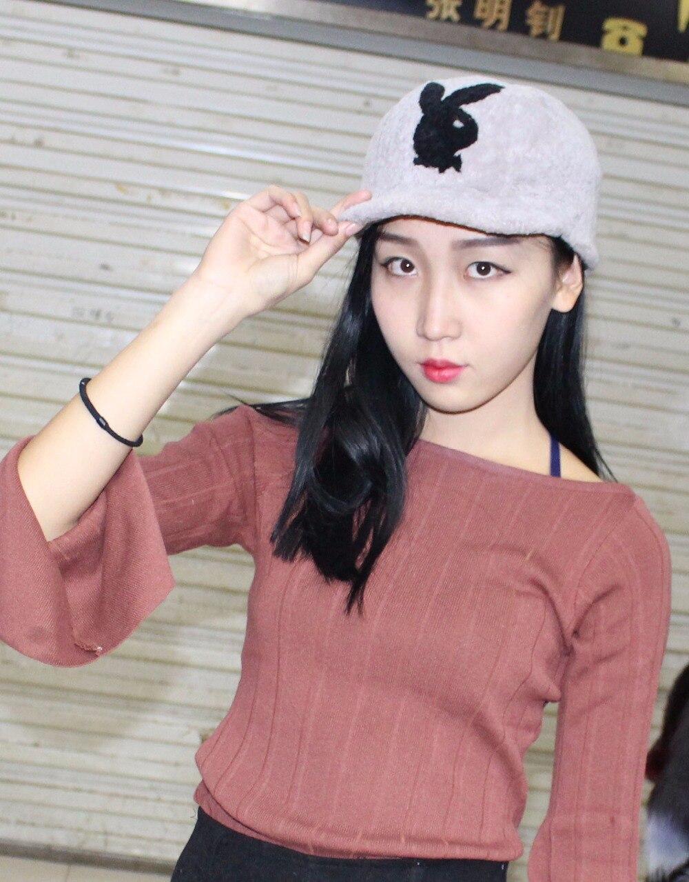 HHZWFUR Natural rabbit hat fashion warm free shipping