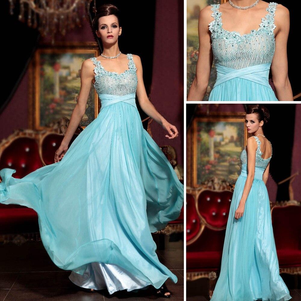 2013 DORISQUEEN new fashion light blue beaded formal prom dresses ...
