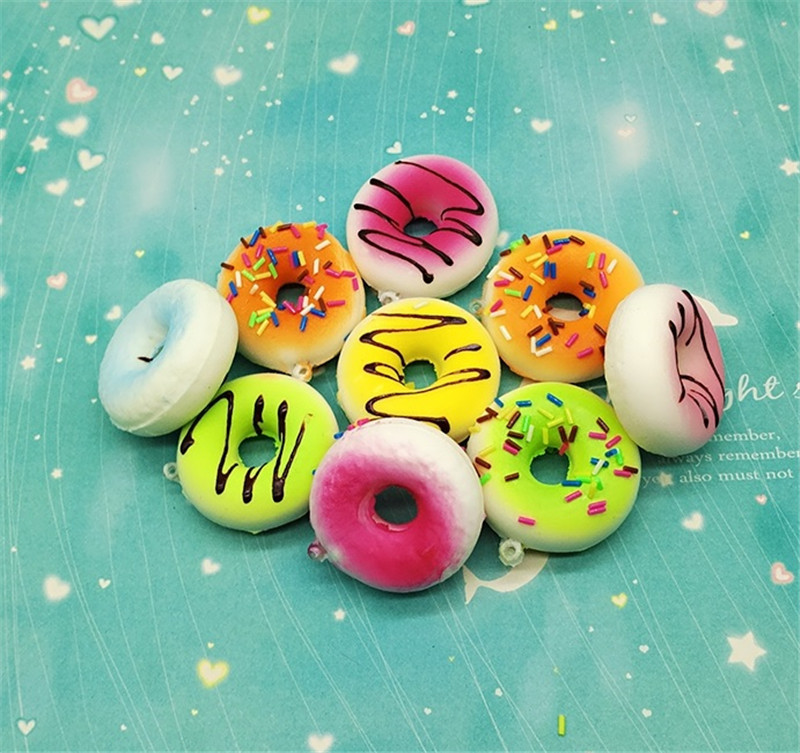 Do Dower 1pcs 5cm PU Random Send Squishy Donuts Slow Rising Squeeze Healing Stress Reliever Squishy Childrens Gift Toys