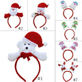 Red Velvet Christmas Decoration X-mas Pattern Head Hoop Hair Band Christmas Gift For Children TB Sale