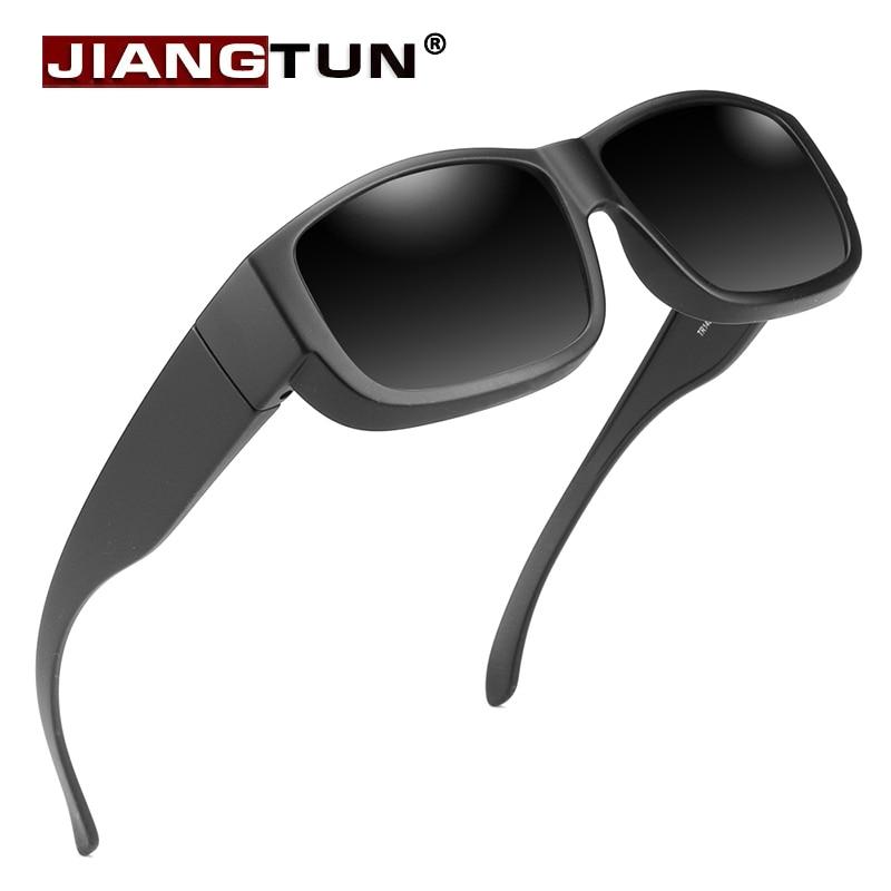 e866878db0b JIANGTUN Brand Polarized sunglasses UV400 fit over glasses For Men and Women  Glasses cover sun glasses