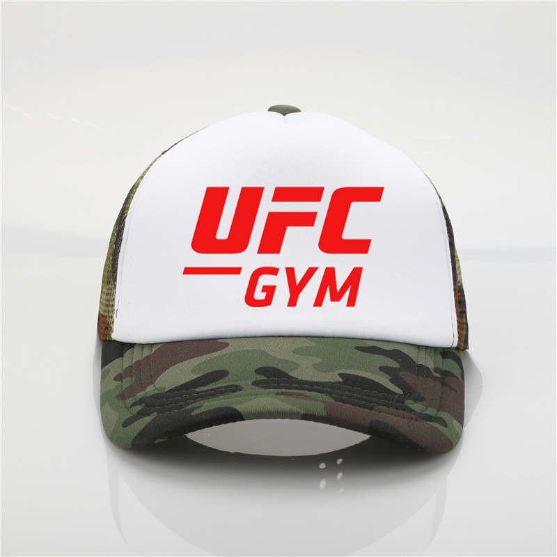 Fashion hat UFC printing net   cap     baseball     cap   Men and women Summer Trend   Cap   New Youth Joker sun hat Beach Visor hat