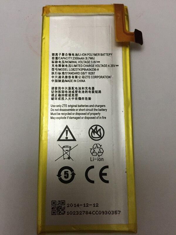 3.8 V 2300 mAh Li3823T43P6hA54236-H Per ZTE Blade S6 5.0