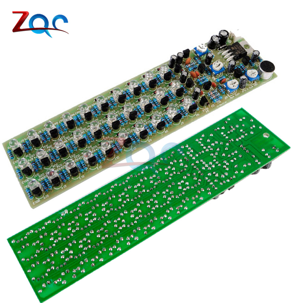 DIY Kit Voice Control Level Indicating LED Red//Blue//Green Electronic Production