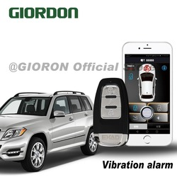 PKE przycisk start dostęp bezkluczykowy telefon komórkowy system zdalnego uruchamiania się blisko samochodu otwarte i zostawić zamka  z alarm wibracyjny funkcja w Alarm antywłamaniowy od Samochody i motocykle na