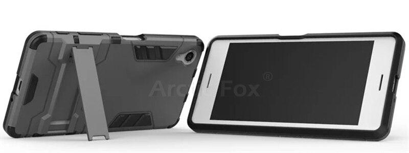 Doble capa resistente híbrido armor cubierta del caso para sony xperia x perform