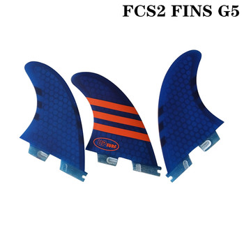 Surf FCSII G5 M Size Surfboard Blue/White/Red/Green color Honeycomb Fins Tri fin set FCS 2 Fin Hot Sell FCS II Fin Quilhas quillas fcsii 9 degree fin plugs surf acessorys fin key fin box surf fcs ii fusion fin plug 3pcs sales