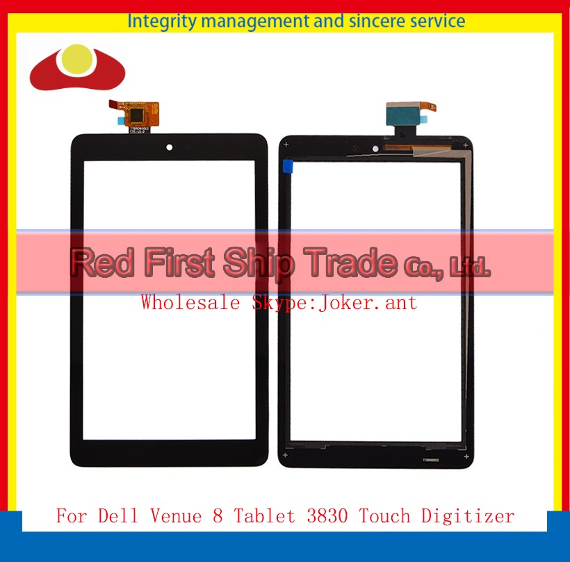 High Quality 8 For Dell Venue 8 3830 T02D Tablet Touch Screen With Digitizer Sensor Panel Front Glass Lens Free +Tracking Code for dell venue 8 pro tablet 8 0 digitizer touch screen panel sensor glass replacement
