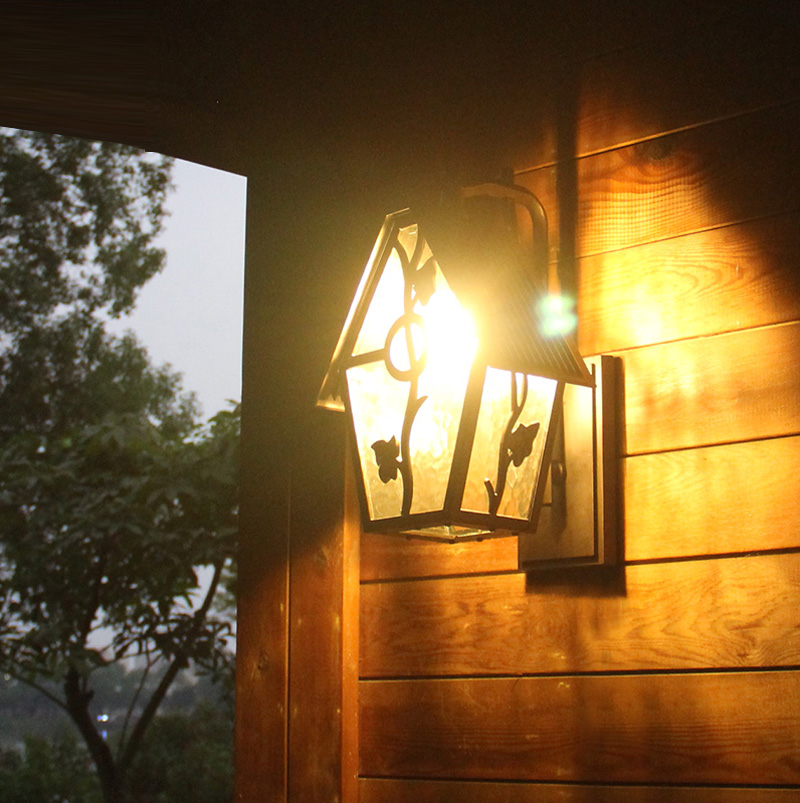 Outdoor Waterproof Outdoor Lighting Lamp Retro Style Courtyard Wall Creative American Balcony Stairs Lamp wall lamp fixture