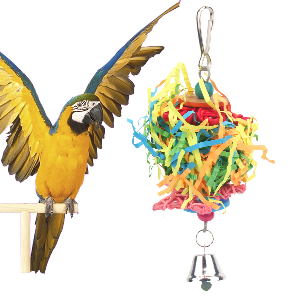 PipiFren Parrots Toys And Bird Accessories For Pet Toy Swing Stand Budgie Parakeet Cage African Grey