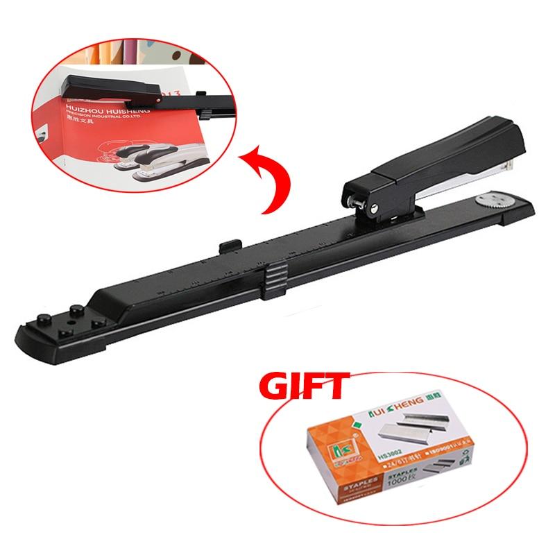 New Universal Long Arm Stapler Lengthening Stapler Paper Stapling For Books, Paper Binding With Staples