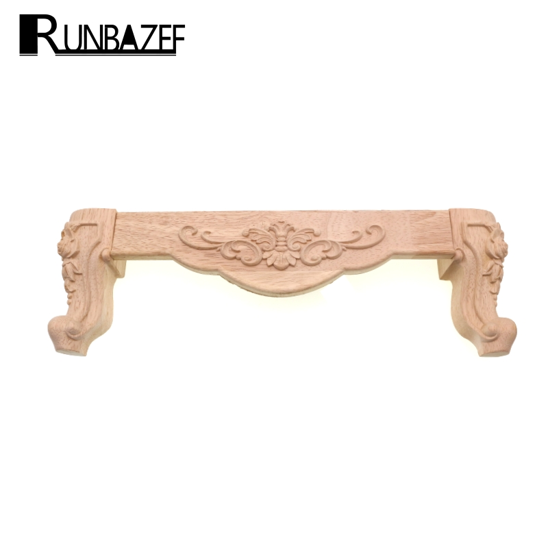 RUNBAZEF Wood Applique Upholstery Furniture Decorative Home Decoration Accessories TV Cabinet Baffle Bathroom Wooden Letters