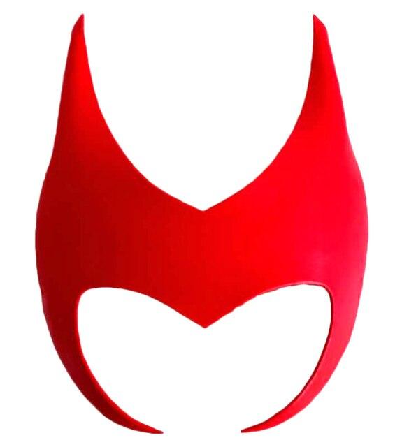 Scarlet Witch Wanda Cosplay Eye Mask Superheroine Maximoff Red