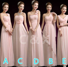 Cheap Custom made color! 5 style chiffon long Bridesmaid Dresses wedding dress, Prom Dress party dress women Vestidos Plus size