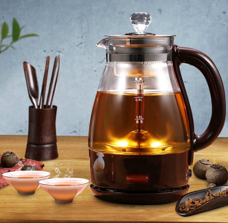 Tea kettle steam thickened glass household multi-functional automatic small capacity black teapot brewing intelligent automatic kettle electric brewing tea stainless steel teapot