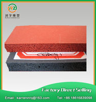 Silicone Foam Sheet 1000x1000x10mm Closed Cell Silicon Rubber Sheet For Heat Transfer Red Color