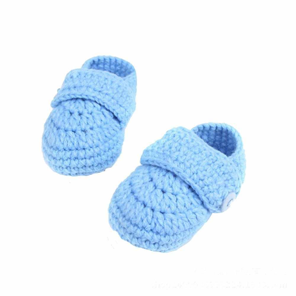 เด็กอ่อนรองเท้าเด็กทารกแรกเกิดโครเชต์ Casual เด็ก Handmade ถักถุงเท้ารองเท้าแฟชั่น buciki dla niemowlat1.5