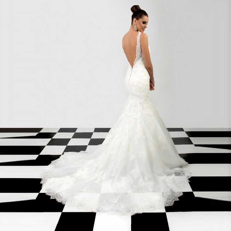 Charismatic Elegant Chic Bridal Dresses V Neck Sleeveless Long