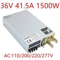 110 220 277VAC 1500 Вт DC36V 0 5 В аналогового сигнала управления 0 36 В источника питания 36 В 41.5A AC DC высоком Мощность БП 1500 Вт S 1500 36