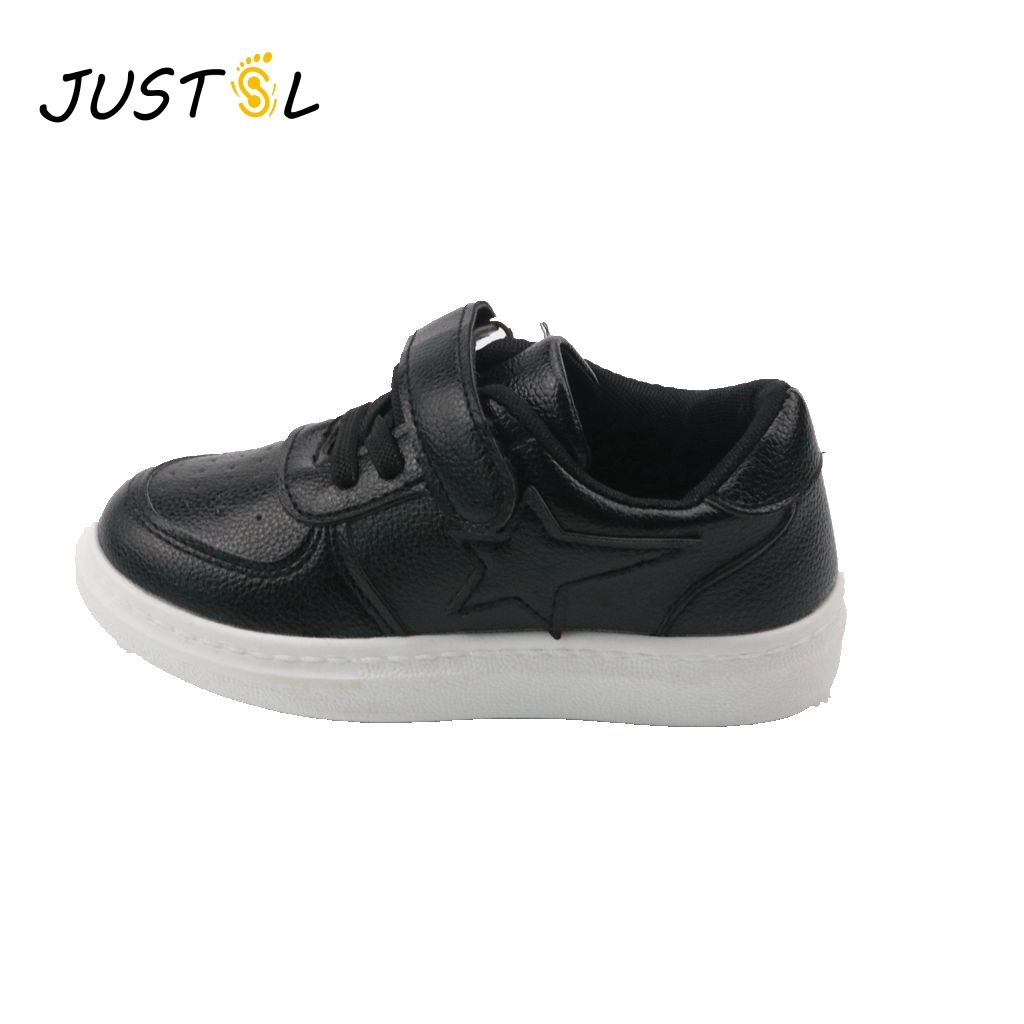 JUSTSL Hot sale children's 2017 spring new kid's sports shoes boys girls fashion sneakers flat with casual solid shoes