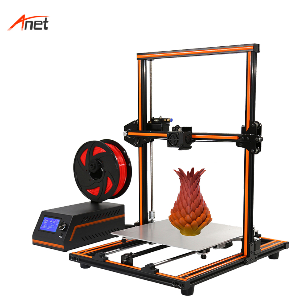Anet E12 Plus Grand Builde Volume De Bureau 3d Imprimante 0.1-0.4mm Impression De Précision À Distance D'alimentation Impressora 3d Semi Assemblé cadre