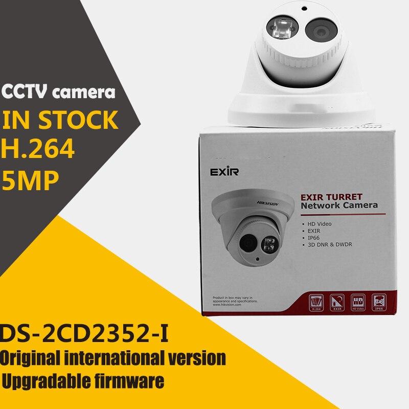 bilder für Auf lager DS-2CD2352-I Englisch version 5MP WDR EXIR revolver netzwerk ip überwachungskamera POE mit bis zu 30 mt IR