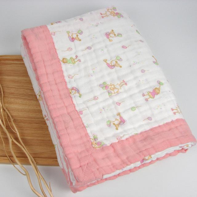 Seis capa de manta de bebé manta muselina swaddle 110*110 cm
