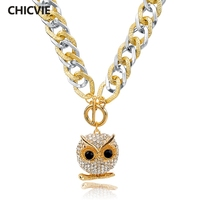 CHOKER Long Crystal Owl Necklace Gold Statement Necklaces Pendants For Women Ethnic Jewelry Vintage Accessories SNE150783