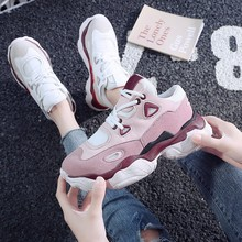 Fashion  shoes woman sneakers 2019 spring new Korean casual thick bottom comfortable
