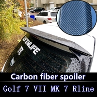 2013 to 2017 for Golf 7 MK7 Spoiler rear window roof spoiler Golf Rear Spoiler For Golf 7 Rline Carbon Fiber Rear Roof Spoiler