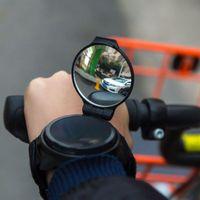 Nowy rower lusterko wsteczne lusterka rowerowe opaska na nadgarstek małe 360 stopni obracanie jazdy wypukłe lustro TX005 w Lusterka rowerowe od Sport i rozrywka na