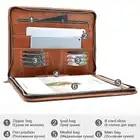 Mva bolsa de embreagem para homens saco de documento de couro a4 pasta de arquivo sacos masculino titular do cartão de embreagem sacos carteira de armazenamento bolsa 8704 - 5