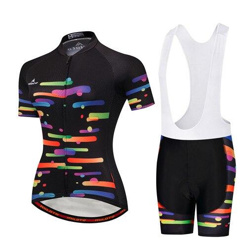 Womens Radtrikot Set 2020 Jersey Pants Short Sleeve Radhose Seat Pads Bicycle Road Bike