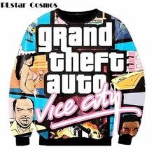 2017 New fashion gta vice city print 3d sweatshirts men/women Harajuku hoodies moleton masculino size S-XXL Free shipping