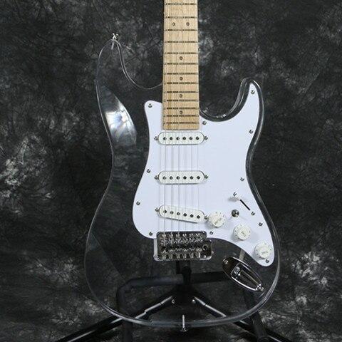 Free shipping newArrivel  Electric Guitar Pink LED acrylic guitar