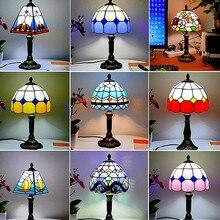 Средиземноморский стиль, для ресторана, бара, кафе, светодиодный, винтажный, настольная лампа, прикроватные, цветные, стеклянные, настольные лампы, тумбочка, светильник для спальни