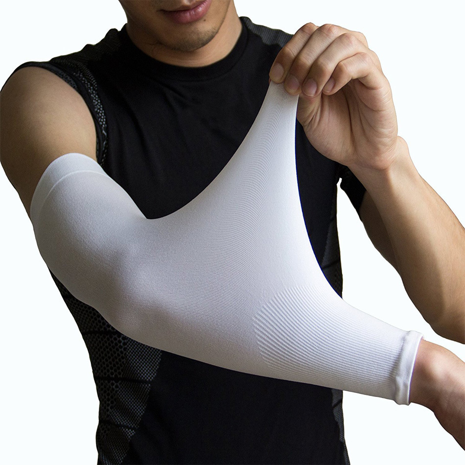 1 Pair Ultralight Ice Fabric Arm Sleeves Mangas Warmer Summer Sports UV Protection Outdoor Running Basketball Volleyball Cycling