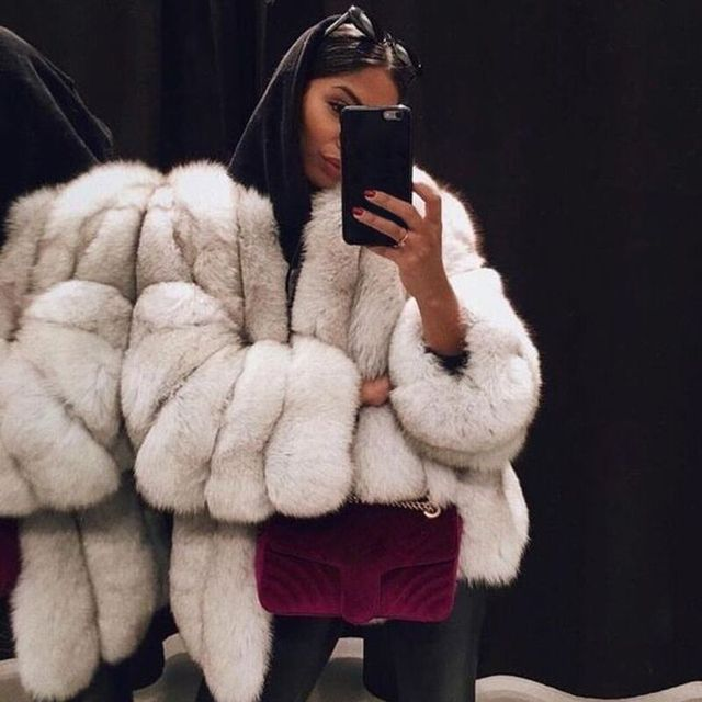 Pleine lâche 2018 offre spéciale mode chaud fausse fourrure manteau de noël vacances Sexy club célébrité Sexy femmes renard fourrure manteaux en gros